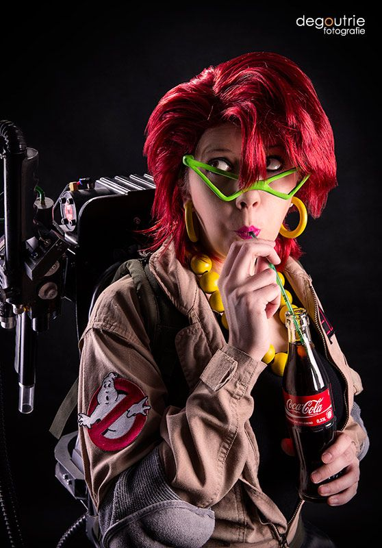 Ghostbusters - Janine Melnitz is drinking a Coke by kathy1602.deviantart.com on @deviantART