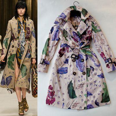 Дешевое 2014 новый осень зима мода женщины тонкий печатных пальто Desigual пальто для женщин винтаж верхняя одежда пальто C0A192, Купить Качество Тренчи непосредственно из китайских фирмах-поставщиках:                                                                             &n