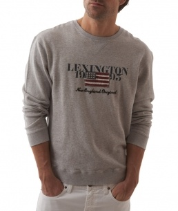 Lexington Sweatshirt Light Grey Melange  1195:-  http://www.butikgenuin.se/varumarken/lexington/herr-lexington-klder/lexington-sweatshirt-light-grey-melange