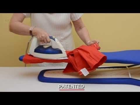 Come stirare indumenti per bambini con AIRON - La stiratura di indumenti di piccola taglia, come quelli dei bambini, è facilitata come non mai.  Scopri il funzionamento pratico ed intuitivo di questo asse da stiro.  www.angyshop.com - YouTube