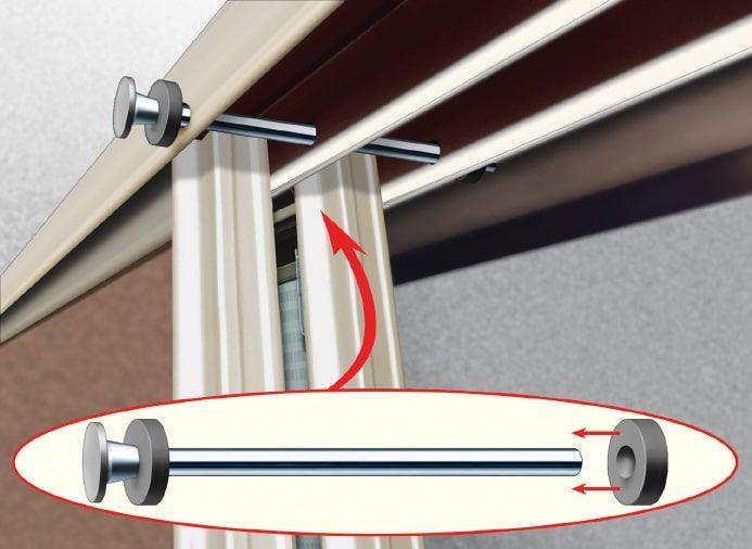 10 Minute Tech Sliding Doors Stay Put Trailer Life Sliding Doors Sliding Glass Door Door Stopper
