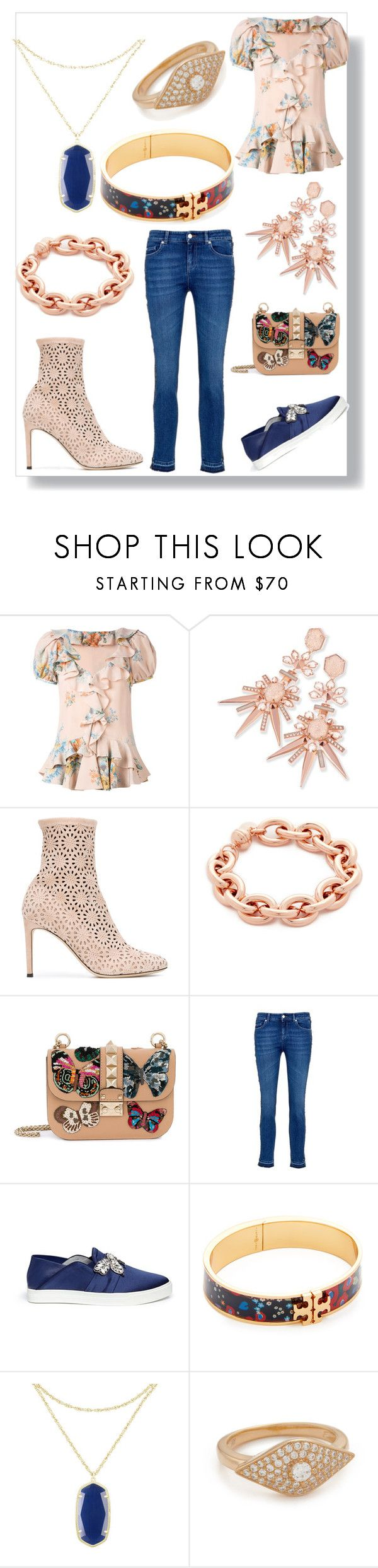 """Your Your Style"" by ramakumari on Polyvore featuring Alexander McQueen, Kendra Scott, Giuseppe Zanotti, Bronzallure, Valentino, Pedder Red, Tory Burch and Native Gem"