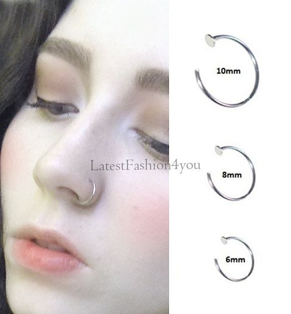 Extra Thin Small 0 8mm Nose Ring Small Nose Hoop Diameter Etsy In 2020 Nose Hoop Body Jewelry Nose Nose Ring