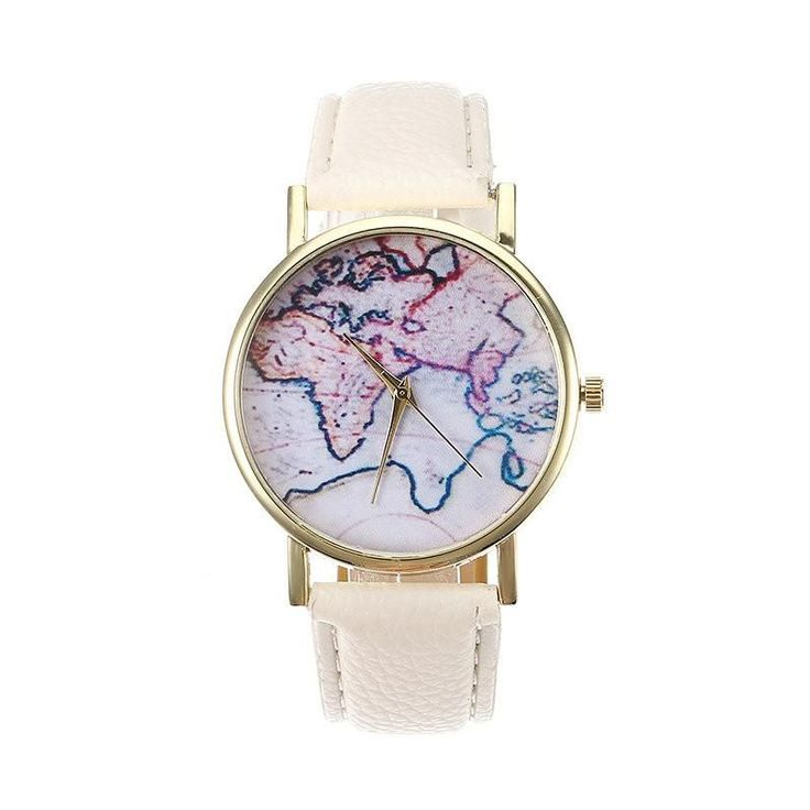 Women's Retro Watch Leather Map Vintage Watch