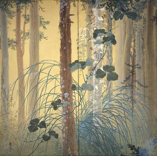 SHIMOMURA Kanzan 下村観山:木の間の秋 (1907)