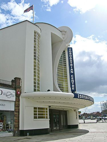 https://flic.kr/p/ebwcv | Grosvenor Cinema, Harrow, Middlesex, London | Grosvenor cinema with its art deco frontage is one of the London´s finest suburban cinema buildings. Opened in 1935 became now the Zoroastrian Centre for Europe. it´s architect was Frederick E. Bromige. (LON_DSCN6295) ------ Image copyrighted.