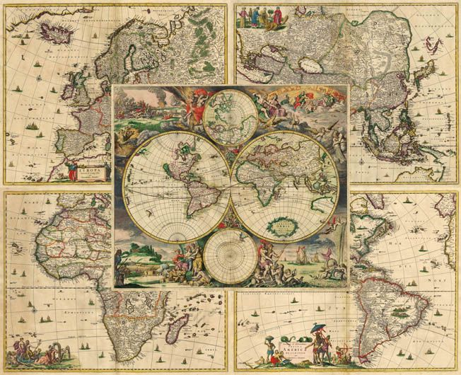 23 best old world map printable images on Pinterest Antique world - new antique world map images