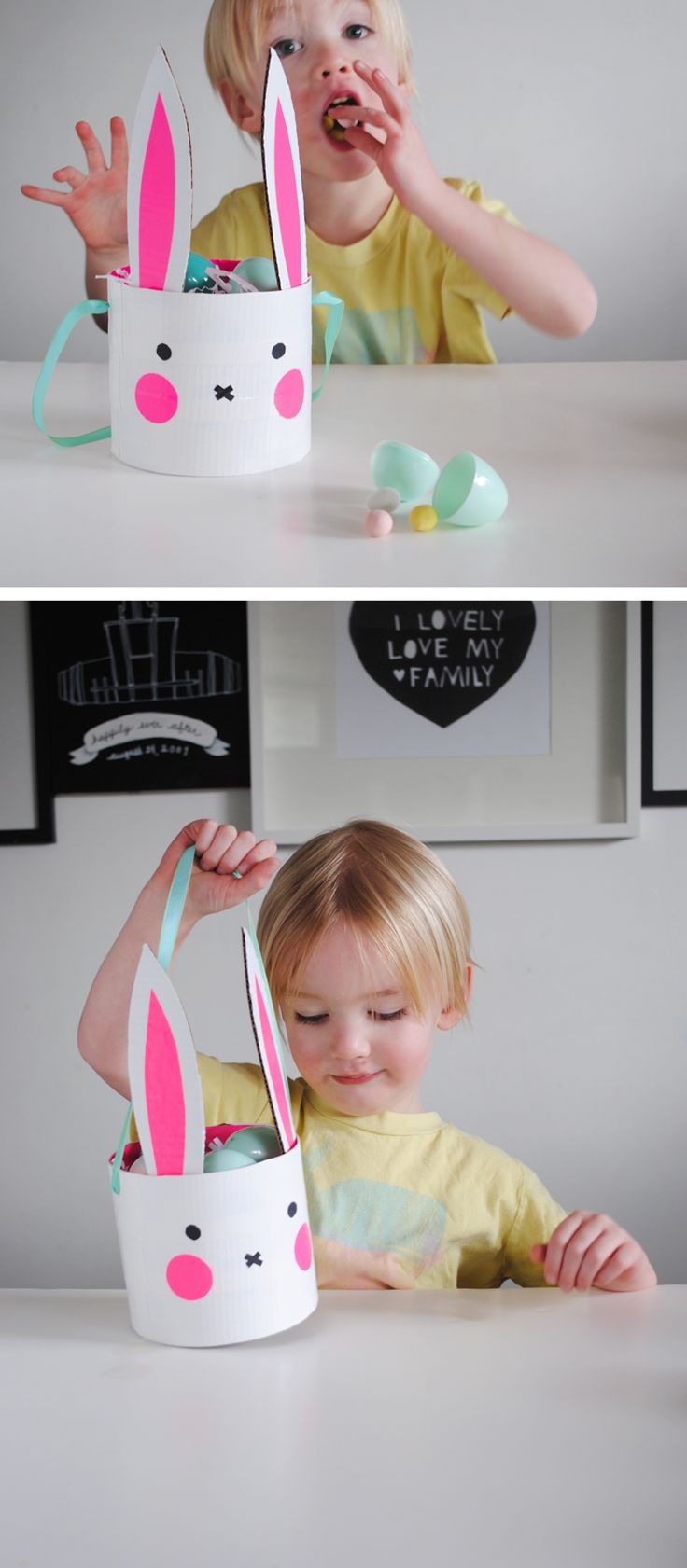 Bunny Basket DIY with Duct Tape