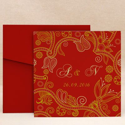 Vivid Blossom Saffron: Wedding Invitation Cards Designs Buy Vivid Blossom Saffron: Wedding Invitation Cards Online. #WeddingCard #WeddingInvite #WeddingInvitations #WaterColor #IndianWedding #paisleys #ChristianWedding #YouAreInvited #Foil #Gold #Bling #Blue #Violet #RSVP #SaveTheDate