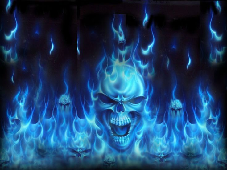 Blue Fire | Blue Fire Skull wallpaper - Uncategorized ...