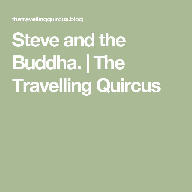 Steve and the Buddha. | The Travelling Quircus