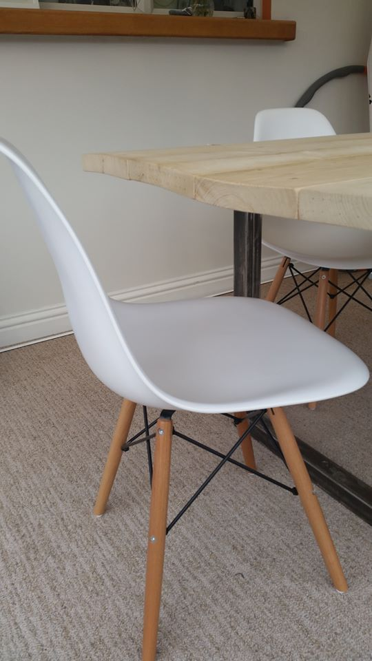 Another Customers Photo They Sent In To Us Of Their New DSW Replica Dining  Chairs.