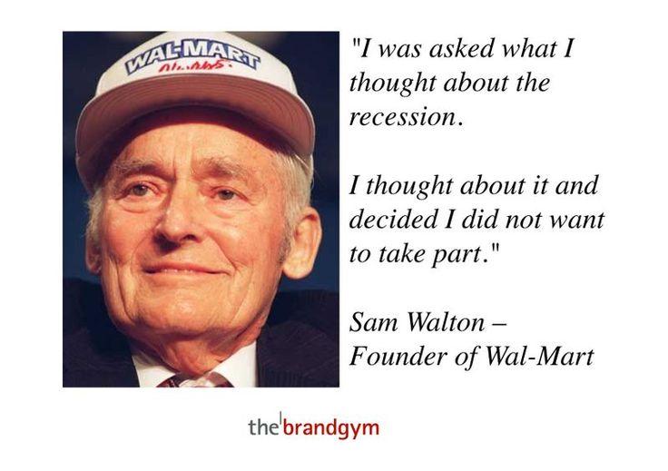 a history of sam walton and wal marts strategy The is the history of walmart and their history of walmart and the role the company's logo played in their gargantuan success origins of walmart  sam walton.