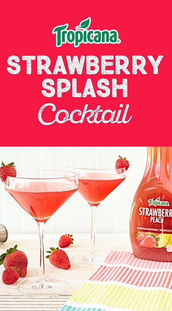 Strawberry Splash. Hockey RulesAlcoholic BeveragesCocktailsPatio BartenderClockHappy HourDessert ...