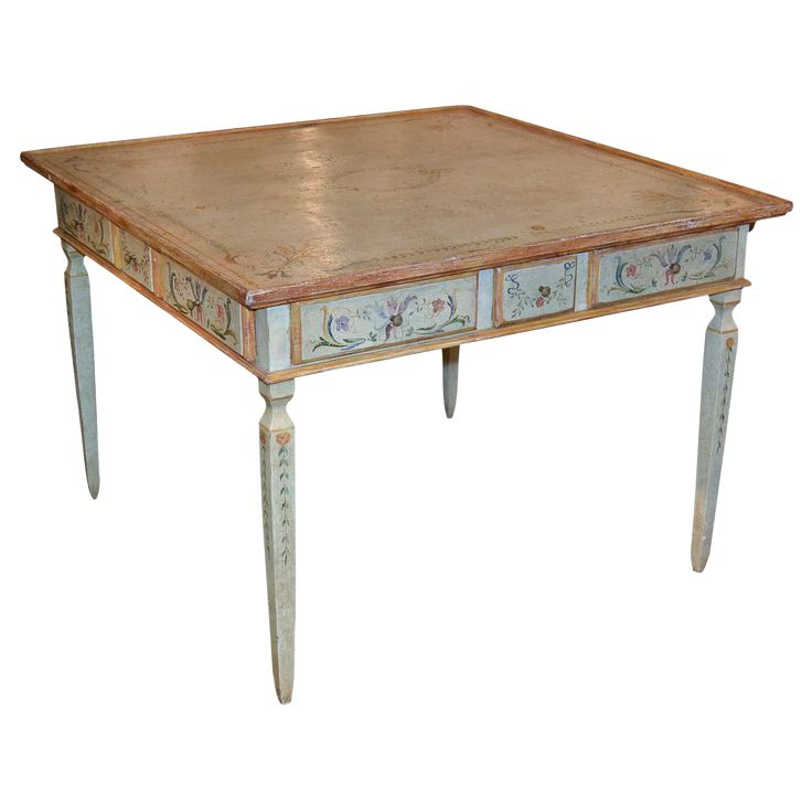 Decorative Italian Painted Games Table on DECASO.com