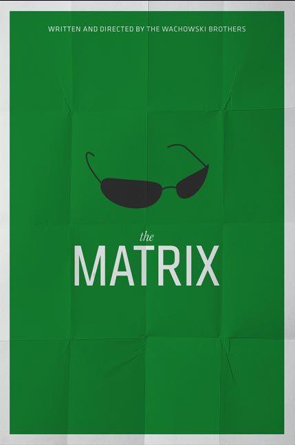 The Matrix (1999) ~ Minimal Movie Poster by Pedro Vidotto #amusementphile