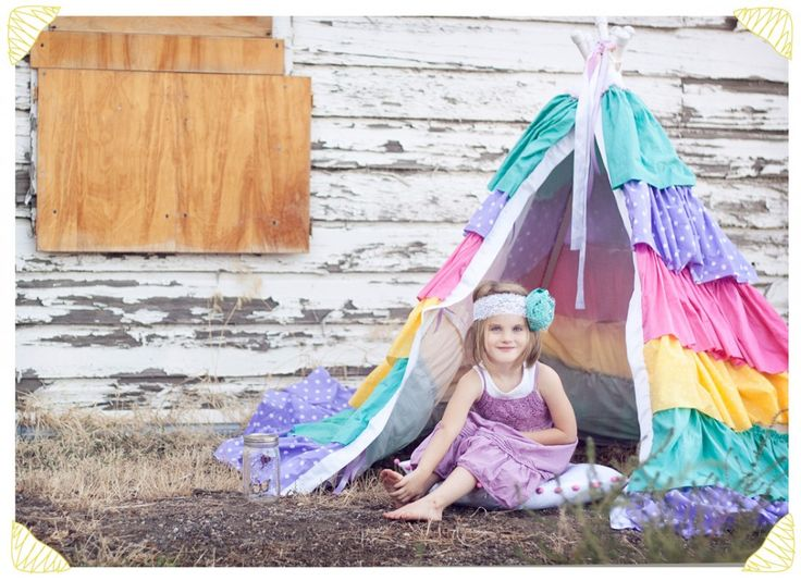 Make ruffle teepee