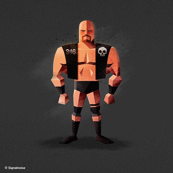'Stone Cold' Steve Austin WWE Superstar Illustration by James White