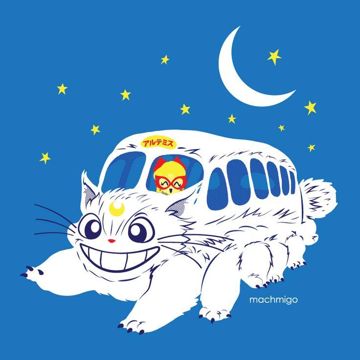 Totoro/Sailor V crossover