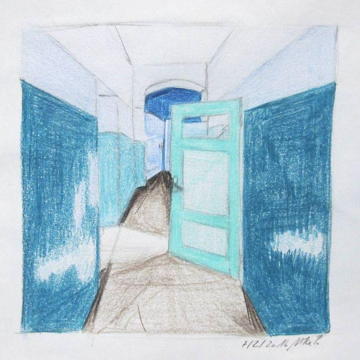 Flächen. #kritzelnzwosechzehn #kritzeln #sketchbook #bluehues #buntstift