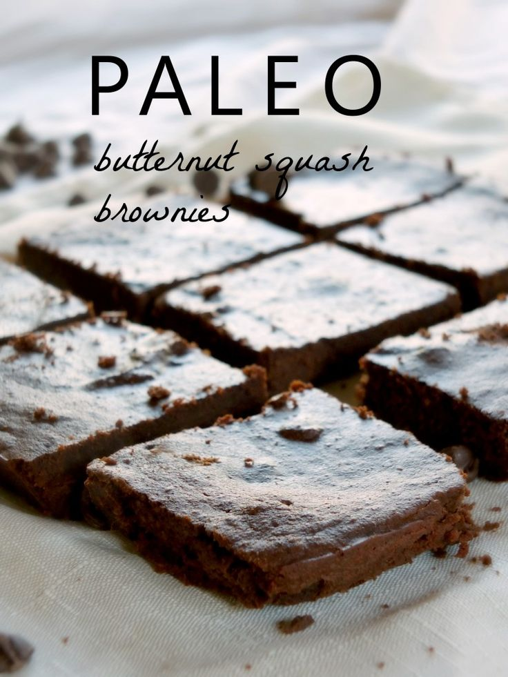 I just made these and they are DELICIOUS! Paleo Butternut Squash Brownies
