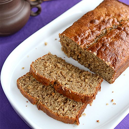 Peanut Butter & Banana Whole Wheat Quick Bread Recipe I'm making this bread asap! Sounds wonderful!