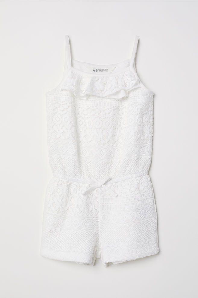 1f6cc582dbb Lace Jumpsuit - Cream - Kids