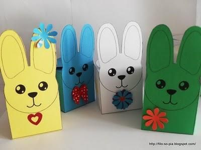 Una scatola per le uova di Pasqua o i biscottini