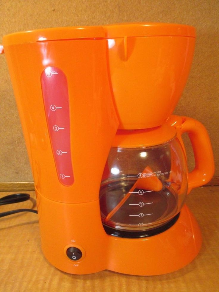 KITCHEN SELECTIVES Colors 5 Cup Coffee Maker - TANGERINE/ORANGE RARE COLOR *NEW* #KitchenSelectives