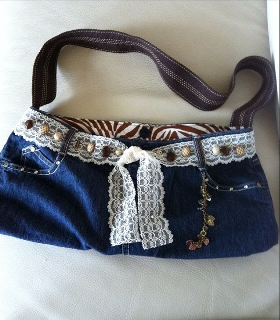 Handmade jean purse for sale. Quality materials and one of a kind purse