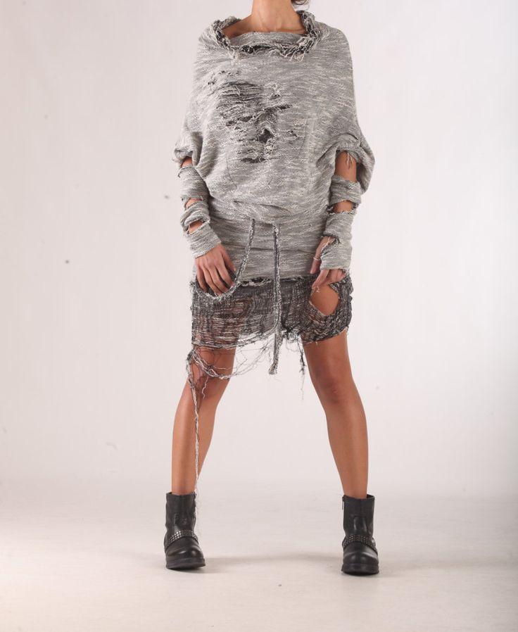 Plus Size Sweater Dress Cotton Dress Off Shoulder Dress Cut