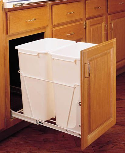 Rev-A-Shelf RV18PB2-S full extension kitchen pull out trash can