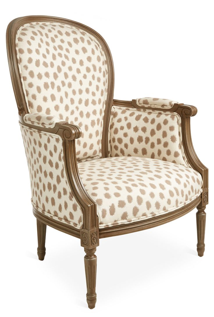 Angus accent arm chair brown buy seating living room store - Germaine Chair Caf Polka Dot Sunbrella One Kings Lane