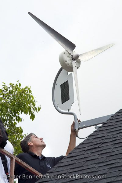 Installing a wind turbine | by CitizenOfThePlanet
