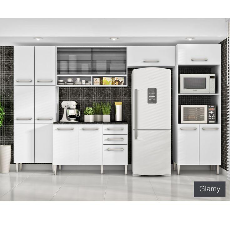 Gostou desta Cozinha Glamy 5 Peças Elis Iris Branco C/ Tampo - Madesa, confira em: https://www.panoramamoveis.com.br/cozinha-glamy-5-pecas-elis-iris-branco-c-tampo-madesa-4789.html