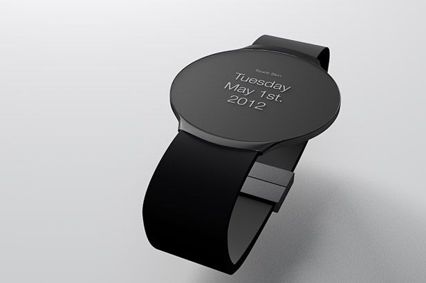 Touch Skin is the ultimate digital accessory – A touch sensitive watch that combines tradition and transcendence via classic minimalist analogue watch design.