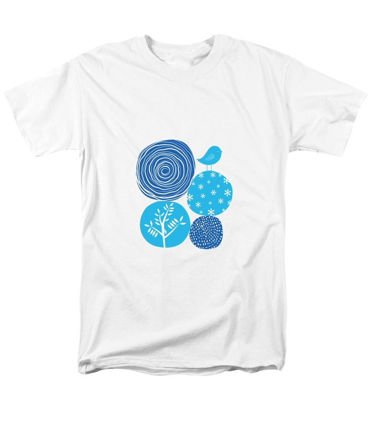 Nature T-Shirt featuring the digital art Abstract Nature Blue by Bekare Creative