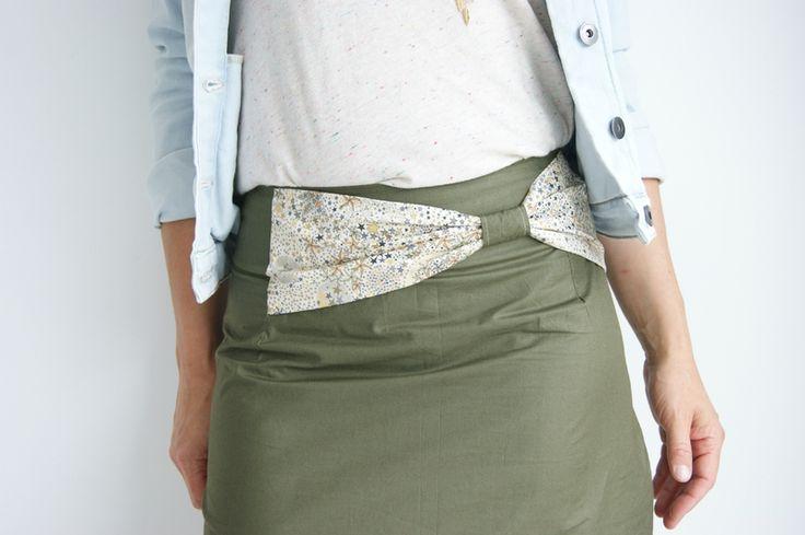 Tuto nœud sur jupe droite