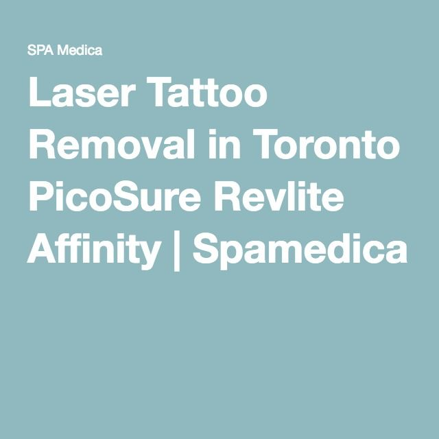 Laser Tattoo Removal in Toronto PicoSure Revlite Affinity | Spamedica