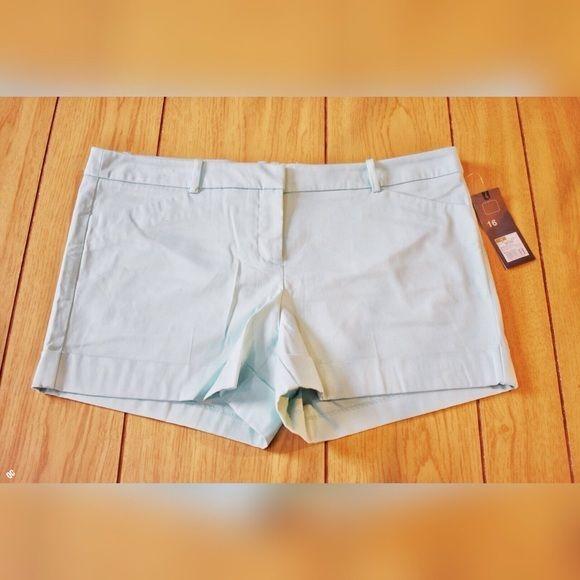 NWT Plus Size 16 AQUA shorts #MossimoSupplyCo #Skorts
