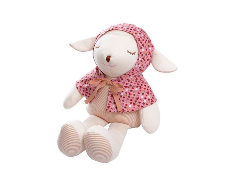 Baby Lamb Doll Wearing Cape Organic Eco Gift Toy No Skin Problems Sleep Toy Doll #MinkElepang