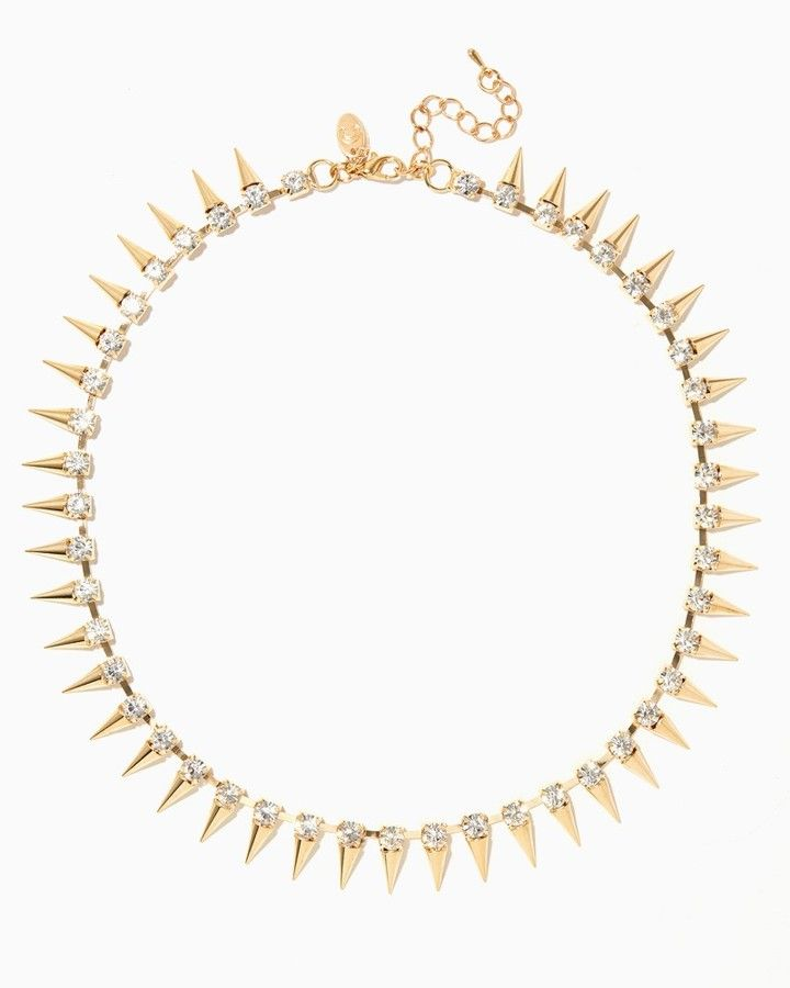 Charming charlie Rhinestones & Spikes Necklace