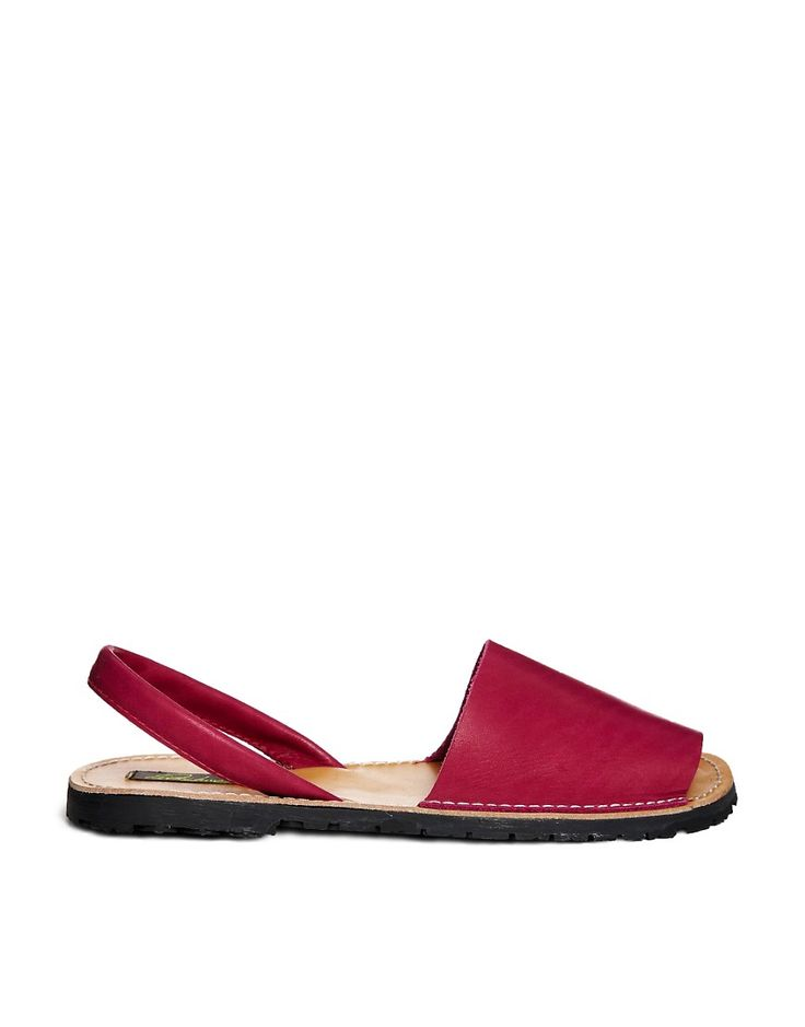 Image 1 of Park Lane Leather Sling Flat Sandal