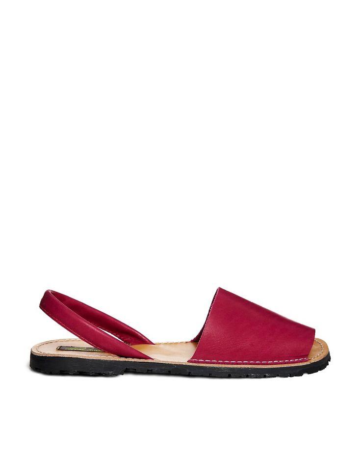Image 1 ofPark Lane Leather Sling Flat Sandal