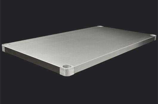 "Stainless Steel undershelf designed for Worktables. Model: DUS-2444-SS. Availalble in 24"" and 30"" depths."