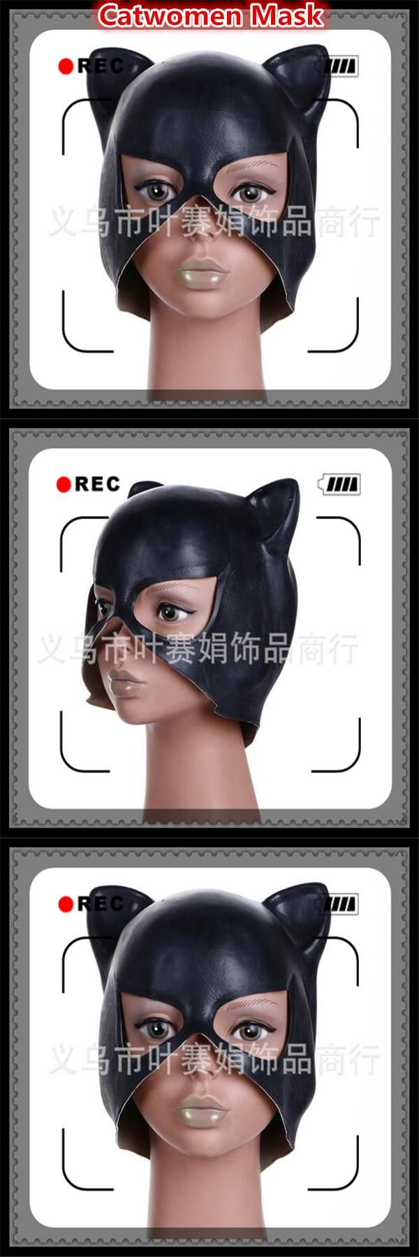 [Visit to Buy] 2017 New Dancing Party Eye Mask Sexy Ball Latex Mask Girls Catwoman Masquerade Mask Halloween Fancy Dress Costume Black Cat Mask #Advertisement