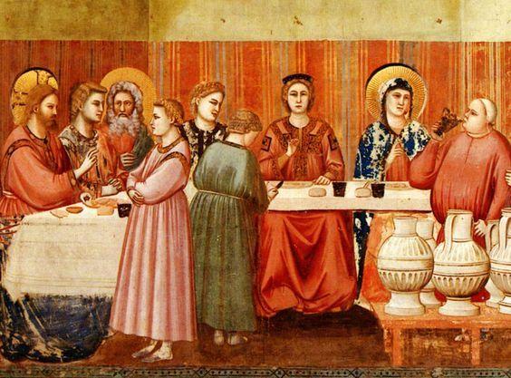 """Giotto,  particolare da """"Le Nozze Di Cana"""",cappella degli Scrovegni a Padova"""