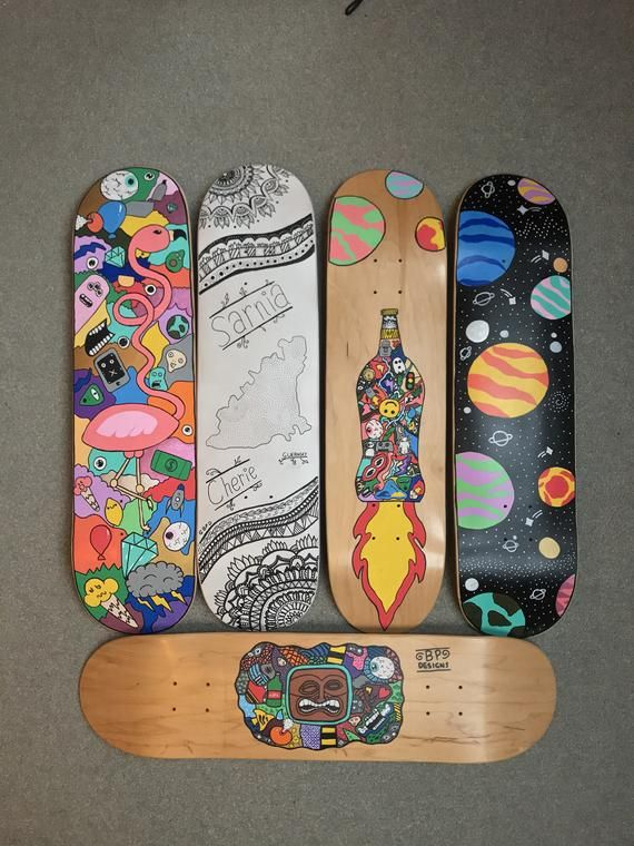 Personalized Skateboard Deck Painted Skateboard Skateboard Deck Art Skateboard Design