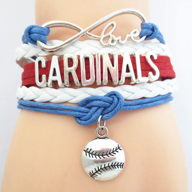 Infinity Love St. Louis Cardinals (B-W-R) Baseball - Show off your teams colors! Cutest Love St. Louis Cardinals baseball (B-W-R) Bracelet on the Planet! Don't miss our Special Sales Event. Many teams available. www.DilyDalee.co