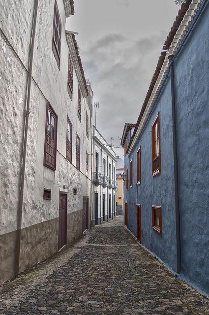 streets in La Orotava, Tenerife, Canary Islands, Spain